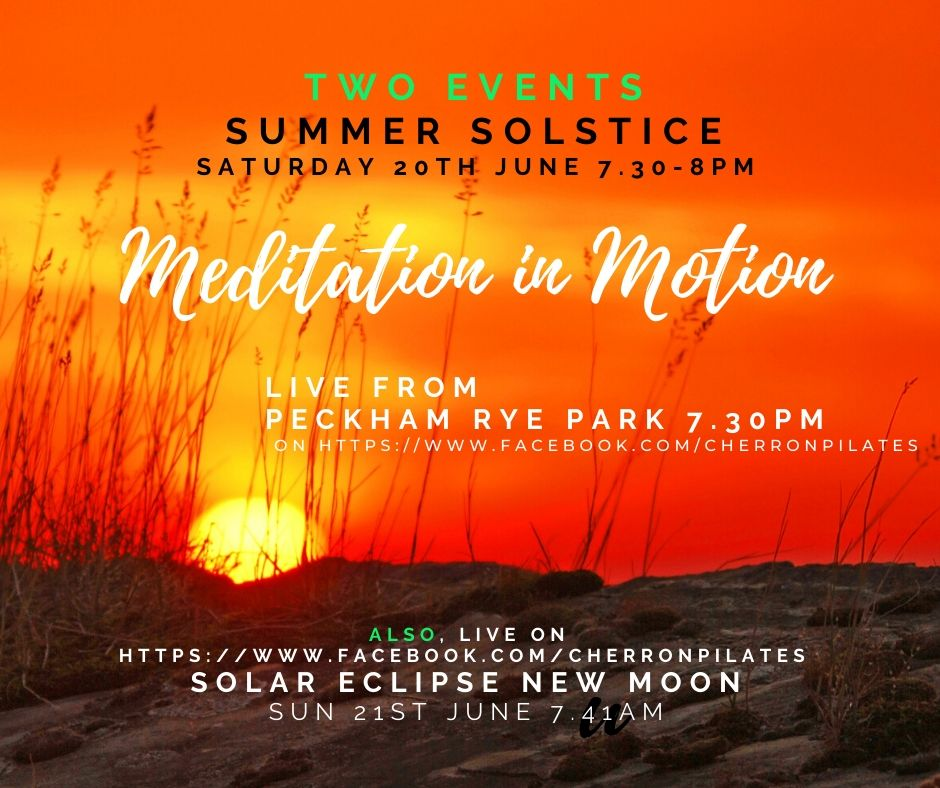 Summer Solstice and Solar Eclipse New Moon live on Facebook with Cherron